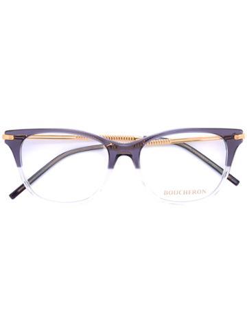 Boucheron Rectangle Frame Glasses - Grey