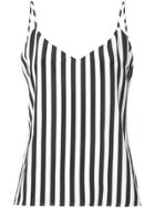 L'agence Striped Cami Top - White