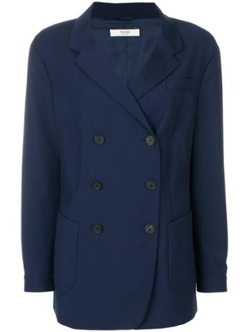 Prada Vintage Double Breasted Jacket - Blue