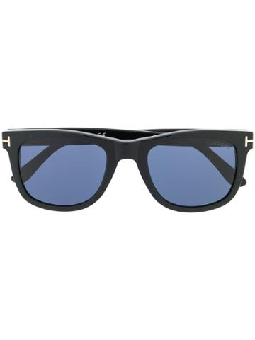Tom Ford Eyewear Logo Square Frame Sunglasses - Black