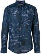 Michael Michael Kors Collared Longsleeve Shirt - Blue