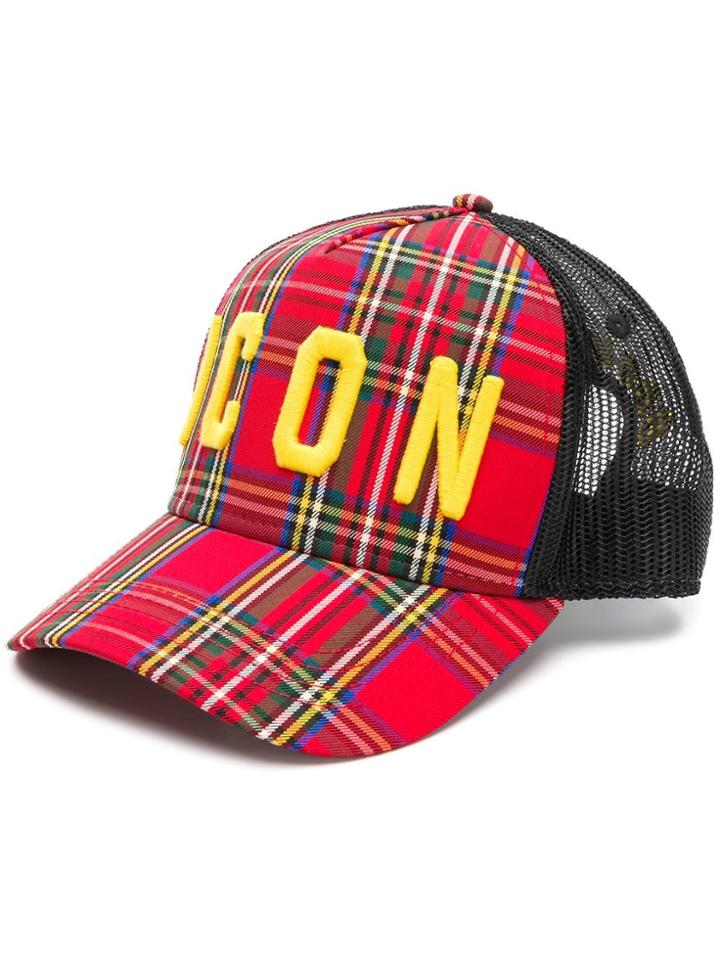 Dsquared2 Icon Check Baseball Cap