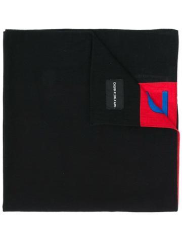 Calvin Klein Jeans Two-tone Neck Scarf - Black