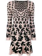 Alexander Mcqueen Bird Print Dress - Pink