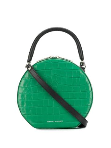 Rebecca Minkoff Croc-effect Circle Bag - Green