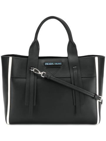 Prada Shopping Tote Bag - Black