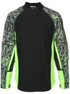Sankuanz Camouflage Panel T-shirt - Black