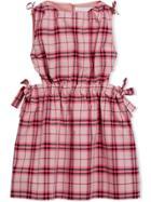 Burberry Kids Check Dress - Pink & Purple