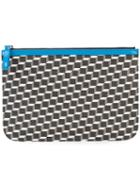 Pierre Hardy - Geometric Print Pouch - Unisex - Patent Leather/canvas - One Size, Black, Patent Leather/canvas
