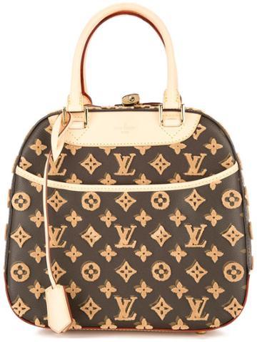 Louis Vuitton Vintage Deauville Cube Hand Bag - Brown