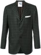 Kiton Plaid Blazer - Green