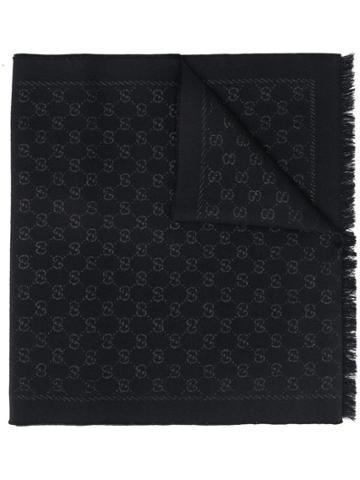 Gucci Gg Supreme Scarf - Black