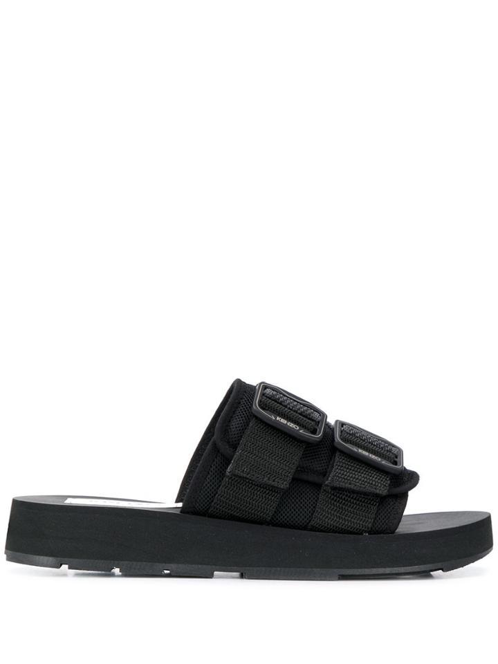 Kenzo Papaya Slides - Black