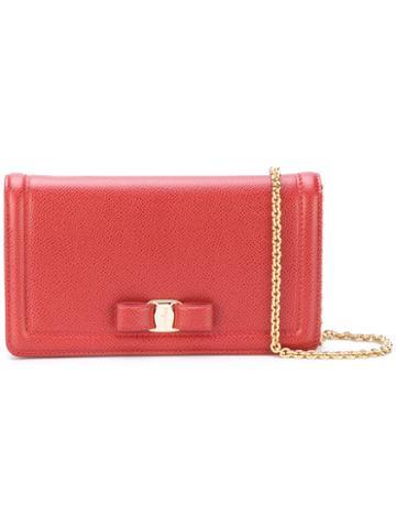 Salvatore Ferragamo - Vara Clutch Bag - Women - Calf Leather - One Size, Red, Calf Leather