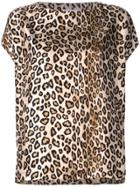 Alberto Biani Leopard Print T-shirt - Brown