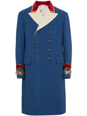 Gucci Wool Cashmere Coat - Blue