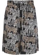 Prabal Gurung All-over Print Shorts - Black