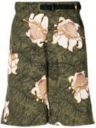 Nike Floral Print Shorts - Green