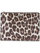 Stella Mccartney Leopard Print Clutch Bag, Women's, Brown