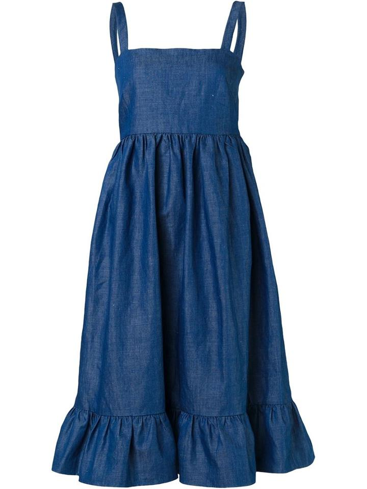 Co Denim Pinafore Dress