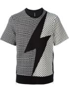 Neil Barrett 'lightning Bolt' Short Sleeve Sweatshirt