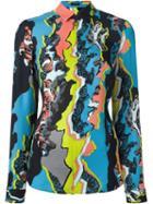 Versace 'jagged Baroque' Zipped Shirt, Women's, Size: 44, Silk