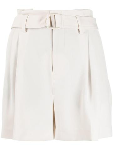 Vince Belted Short Shorts - Neutrals