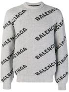 Balenciaga L/s Crewneck - Grey