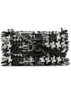 Dolce & Gabbana Dg Tweed Shoulder Bag - Black