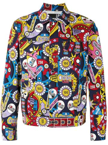 Love Moschino Multi Print Jacket, Men's, Size: 50, Cotton/spandex/elastane