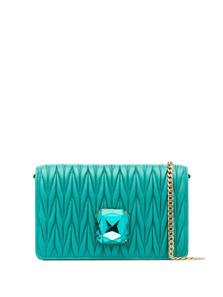 Miu Miu Délice Matelassé Clutch Bag - Green