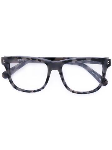 Stella Mccartney - Reverse Tortoiseshell Square Glasses - Women - Acetate - 52, Black, Acetate