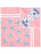 Kenzo Tiger Print Neck Scarf, Women's, Pink/purple, Silk/cotton