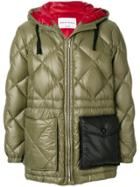 Sonia Rykiel Quilted Hooded Jacket - Green