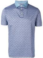 Borrelli Patterned Polo Shirt - Blue
