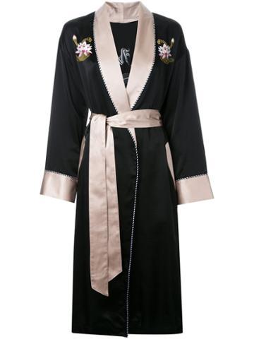 G.v.g.v. Embroidered Flower Robe Coat