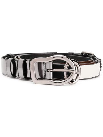 Dorothee Schumacher Skinny Layered Belt - Black