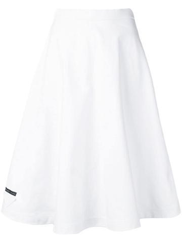 Prada Full Midi Skirt - White