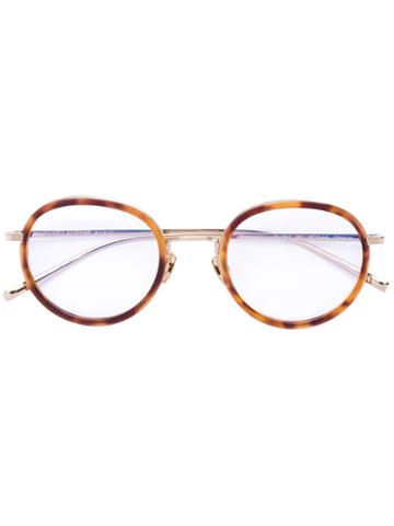 Saint Laurent - Round Frame Glasses - Unisex - Acetate/metal (other) - One Size, Brown, Acetate/metal (other)