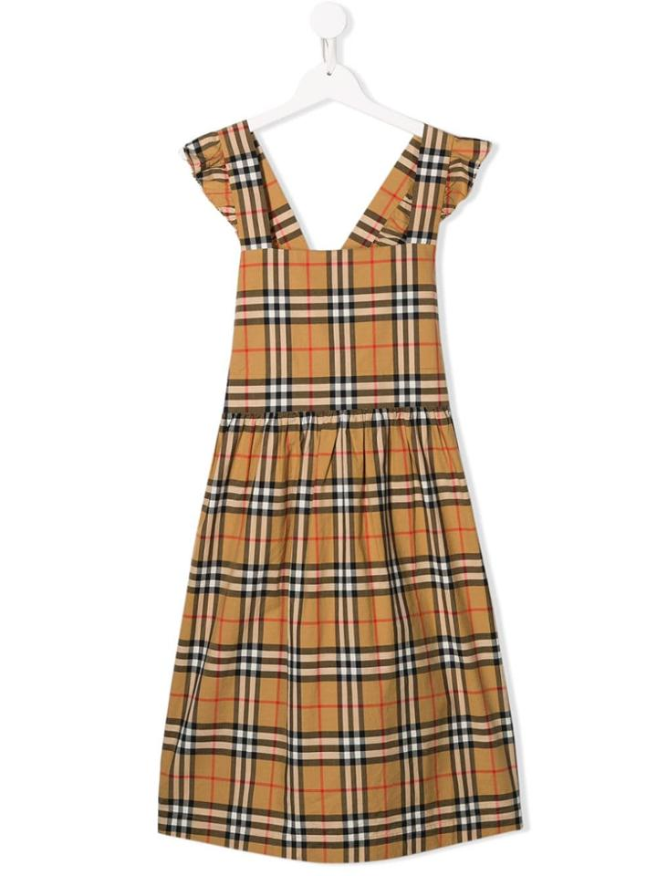 Burberry Kids Signature Check Sleeveless Dress - Neutrals