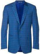 Canali Check Blazer - Blue