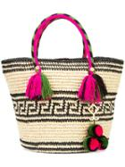 Yosuzi - Kolet Tassel Rope Tote - Women - Cotton/straw (brown) - One Size, Cotton/straw