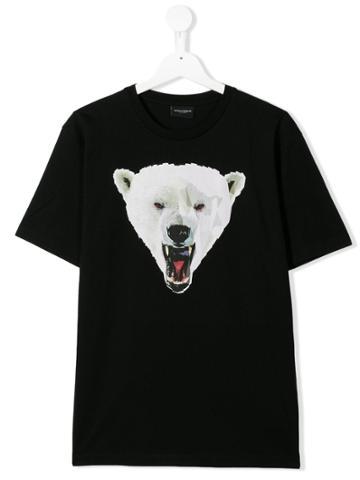 Marcelo Burlon County Of Milan Kids Teen Graphic T-shirt - Black