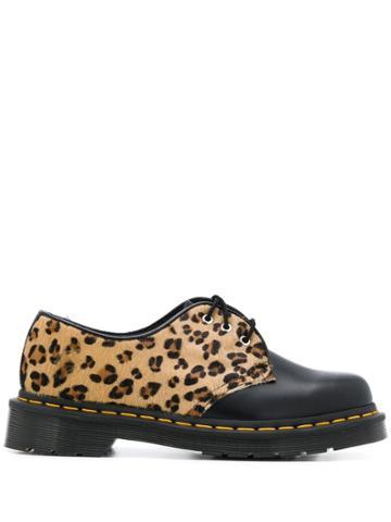 Dr. Martens Leopard Print Panelled Shoes - Neutrals