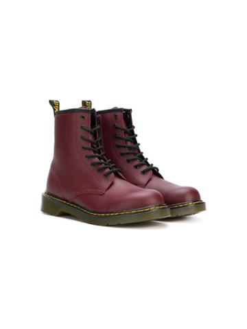 Dr Martens Kids Teen Lace-up Boots - Red