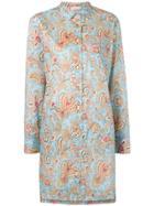 Etro Paisley Print Shirt Dress - Blue