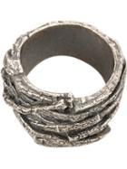Tobias Wistisen Twig Effect Ring, Adult Unisex, Size: 64, Metallic