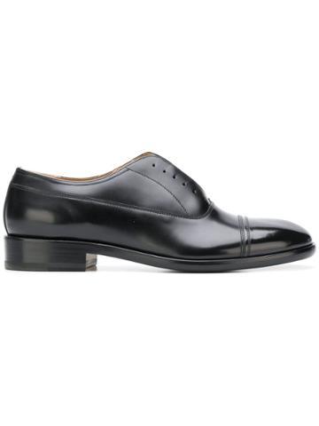 Maison Margiela Laceless Oxford Shoes - Black