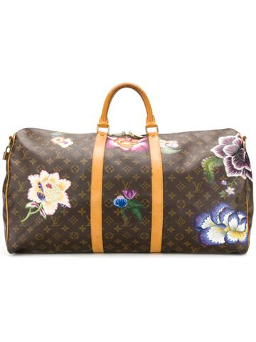 Louis Vuitton Vintage Floral Graphic Holdall - Brown