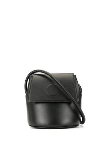Modern Weaving Stitch Detail Bucket Bag - Black